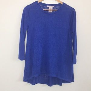 Philosophy | Nubby Knit Tunic Sweater 3/4 sleeve S